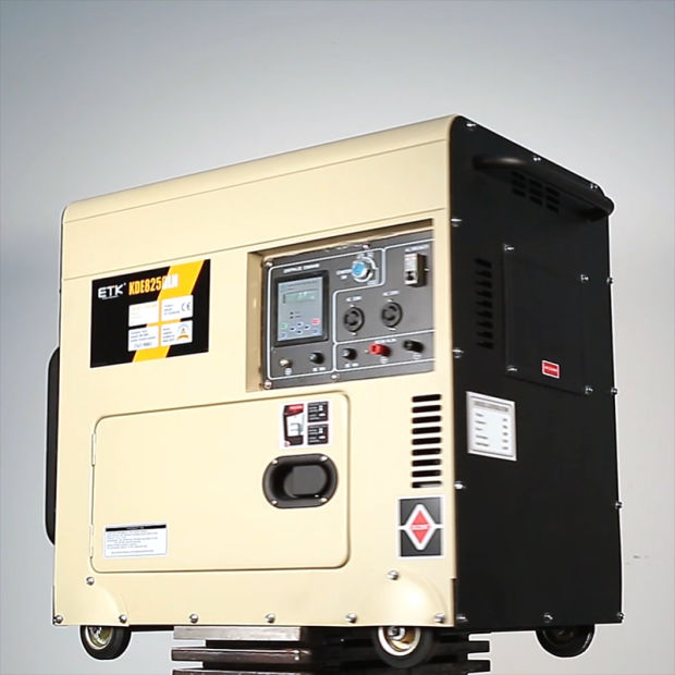 7kw Air Cooled Single Cylinder Single Phase Electrical Start Portable Silent Type Diesel Generator Set pictures & photos