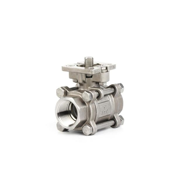 Industry Stainless Steel 3PC Ball Valve With ISO5211 Pad pictures & photos
