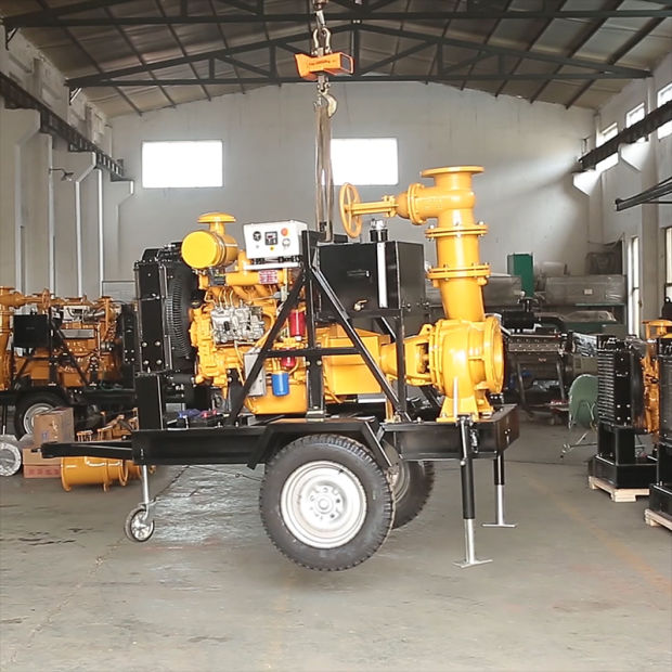 Diesel Engine Water Pump Set with Trailer for Irrigation pictures & photos
