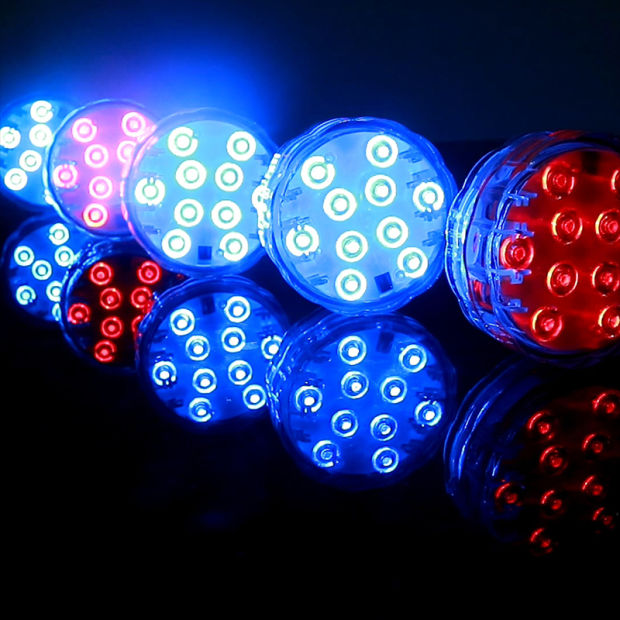 Remote Control 10 Colorful Color-Changing Submersible Hookah Light pictures & photos