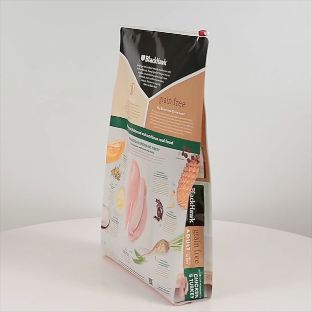 Slip Zipper Quad Sealed Cat Litter Packaging Bag pictures & photos
