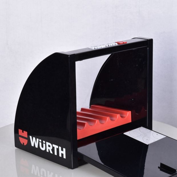 Attractive Hot-Sale Acrylic Counter Drill Display Box with Four Shelves pictures & photos