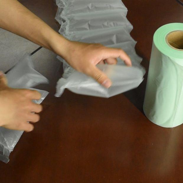 HDPE Custom Material Color Printing Air Pillow Film, Air Cushion Film Air Bag in Roll pictures & photos