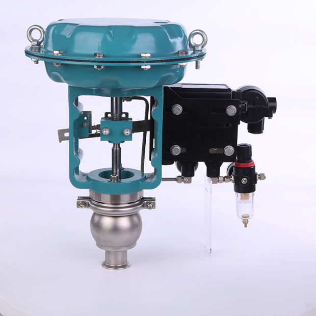 Stainless Steel Sanitary Automatic Membrane Control Valve with 4~2mA Positioner pictures & photos