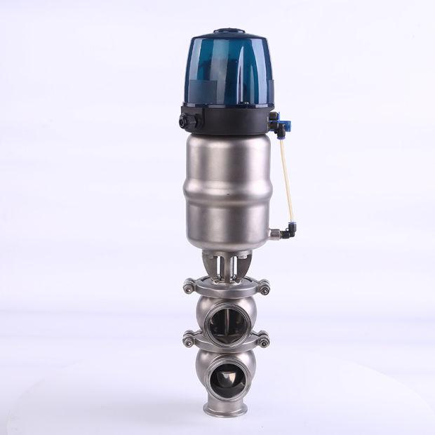 Sanitary Pneumatic 3 Ways Divert Valves Diversion Control Valve pictures & photos
