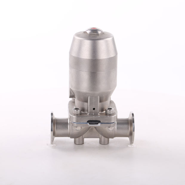 SS316L Pharmaceutical Sanitary Pneumatic Diaphragm Valve with SS304 Single-Acting Actuator pictures & photos