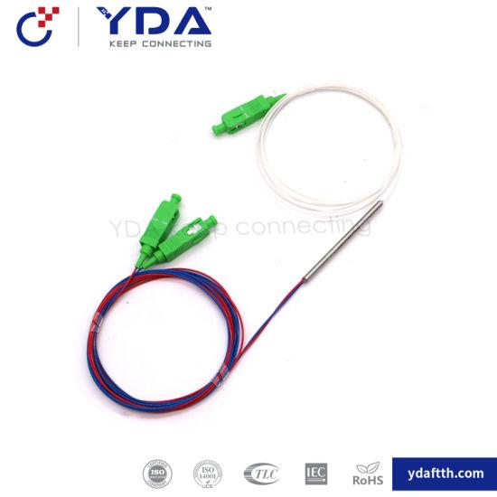 FTTH Fiber Optic Fbt Coupler 1X2 Optical Fiber Wdm Fwdm Splitter 1*2 Coupler pictures & photos