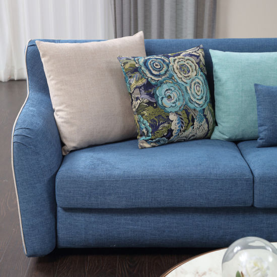 Modern Design Blue Corner Fabric Sofa for Living Room pictures & photos