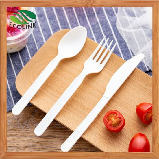 Disposable Biodegradable Cutlery /Spoon/Fork/Knife with PLA Material pictures & photos