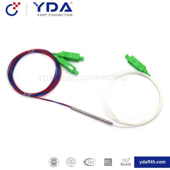 FTTH Optical Coupler Fiber Optic Coupler 1X2 Sc APC Wdm Fiber Splitter Mini Type Fbt Coupler pictures & photos