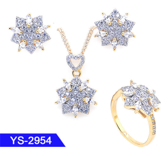 Fashion Jewellery 14K Gold Plated 925 Sterling Silver or Brass Cheap Jewelry Sets pictures & photos