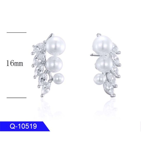 New Design Fashion Jewelry 925 Sterling Silver or Brass Crystal Earrings for Girls pictures & photos
