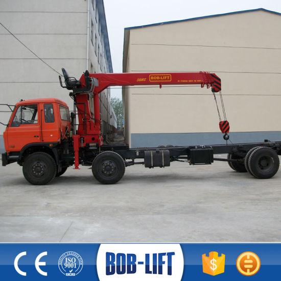 8 Ton Stiff Boom Telescopic Hydraulic Truck Cranes pictures & photos