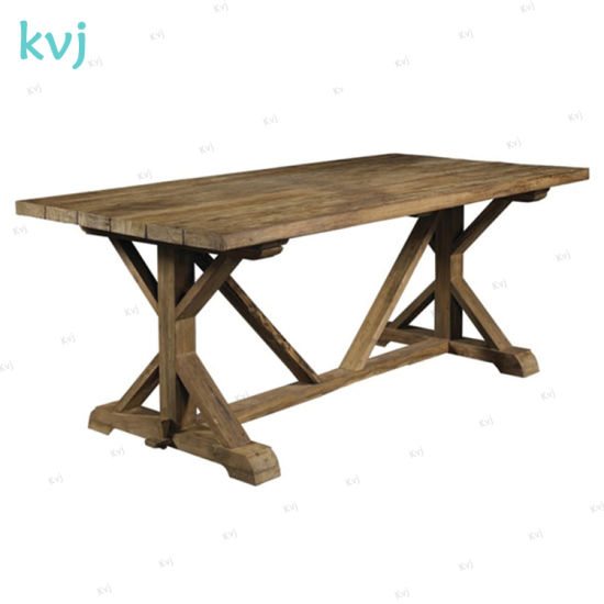 Kvj-7223 Big Rustic Country Reclaimed Elm Dining Table pictures & photos
