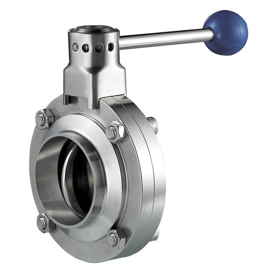 Stainless Steel Thread/Welding Sanitary Manual Butterfly Valve pictures & photos