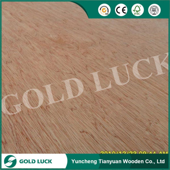 Commercial Decorative Bintangor Veneered Poplar Core Plywood pictures & photos