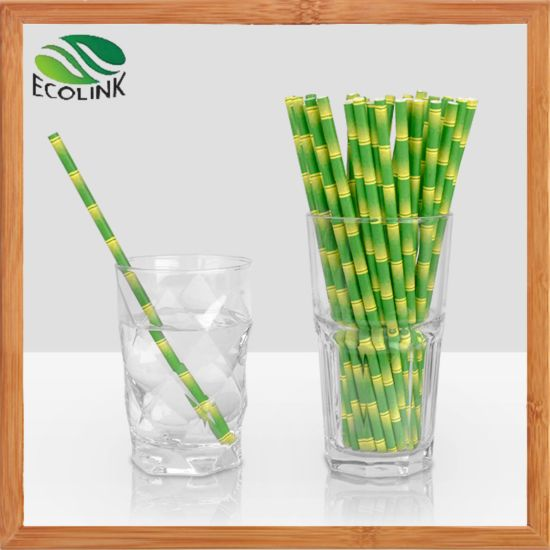 Disposable /Colorful /100% Eco-Friendly /Biodegradable Bulk Paper Straws for Juices/ Shakes/Smoothies/ Party Supplies Decorations pictures & photos