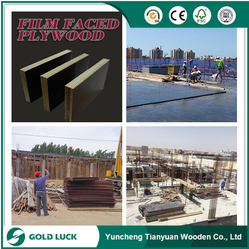 18mm Waterproof Film Faced Construction Formwork Plywood for Building Concrete Use pictures & photos