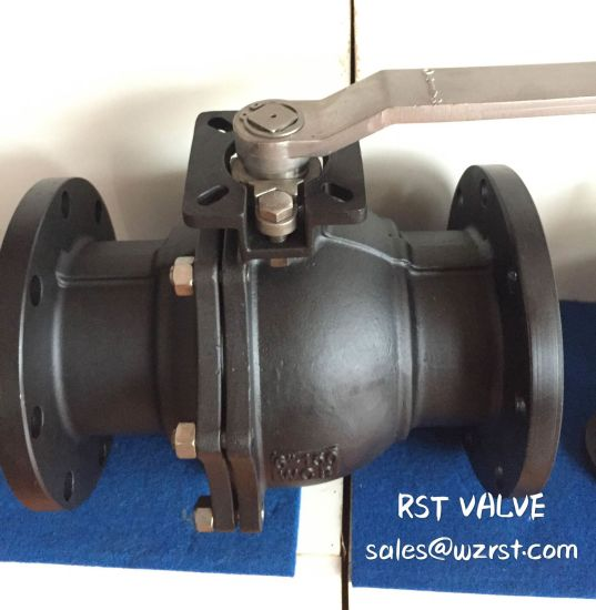 Carbon Steel Flanged 2PC Full Port Ball Valve pictures & photos