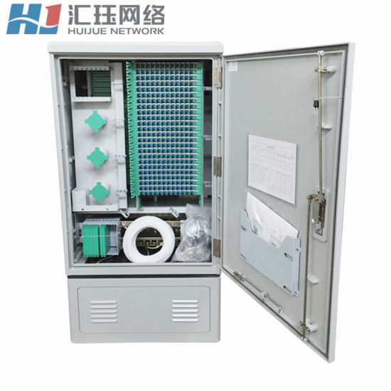 Outdoor SMC Fiber Optical Cross Connect Cabinet 576 Cores Double Opening pictures & photos