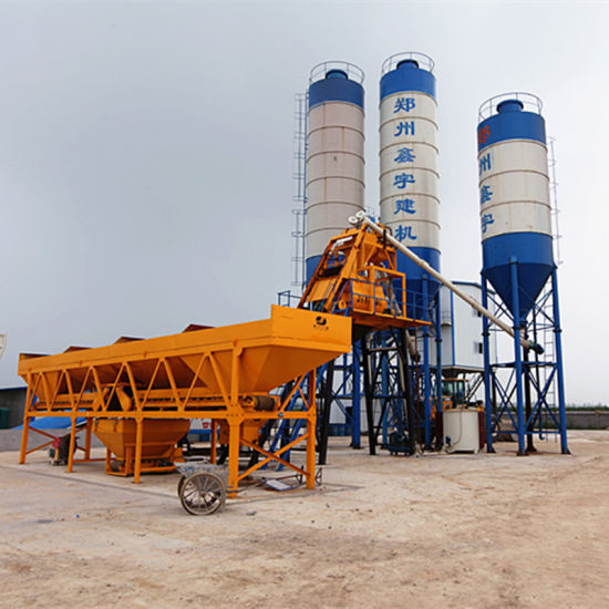Hzs25 Portable Concrete Batching Plant pictures & photos