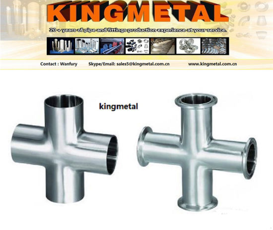 """ANSI316 1.5"""" Food Grade Pipe Connector Stainless Steel Clamp Cross pictures & photos"""