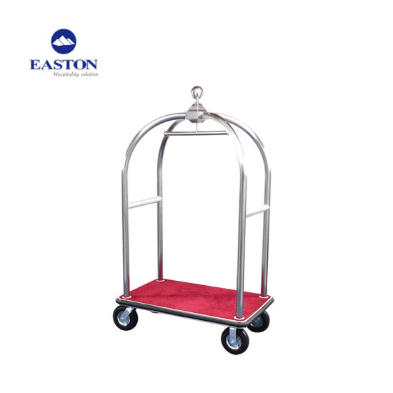 Hotel High Quality Stainless Steel Silver Luggage Cart pictures & photos