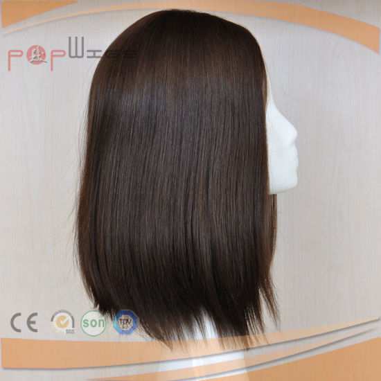 Full Human Hair Silk Top Lace Front Jewish Wig (PPG-l-01557) pictures & photos