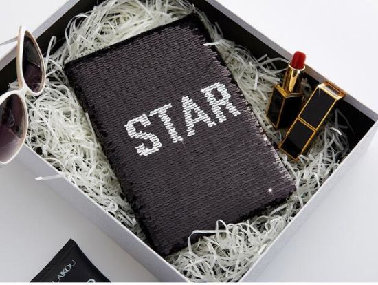 Wholesale A5 Magic Reversible Sequin Notebook in Various Color pictures & photos