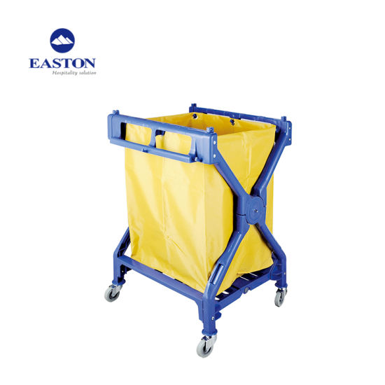 Foldable Design Soiled Hotel Linen Trolley pictures & photos