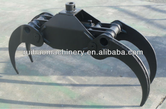 Hydraulic Rotating Log Grab Grapple for Excavator Parts pictures & photos