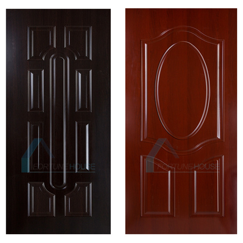 Melamine Laminated MDF Door Skin with Teak Corlor Veneer pictures & photos