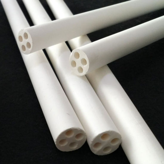 Four Holes Electrical Insulation MGO Magnesium Oxide Tube pictures & photos