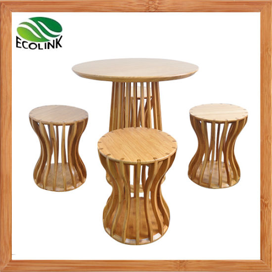 Bamboo Furniture Set Round Bamboo Table pictures & photos