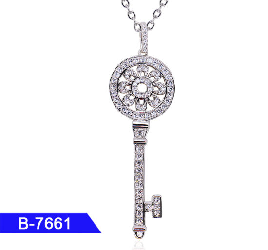 Wholesale New Design 925 Sterling Silver or Brass Personalized Jewelry CZ Key Pendant for Girls pictures & photos