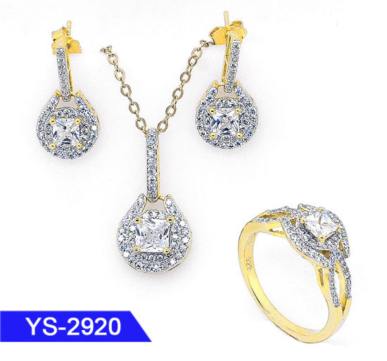 14K Gold Plated Fashion Jewellery 925 Sterling Silver or Brass Diamond Cheap Jewelry Sets pictures & photos