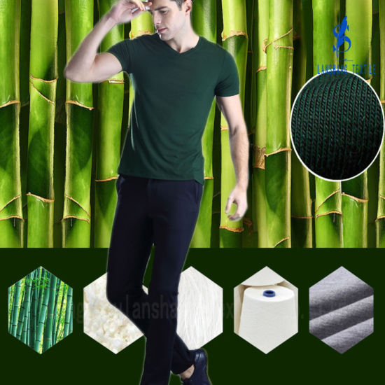 95%Bamboo 5%Spandex Single Jersey Knit Fabric pictures & photos