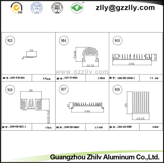 Building Material Aluminum Heat Sink for Household Appliances pictures & photos