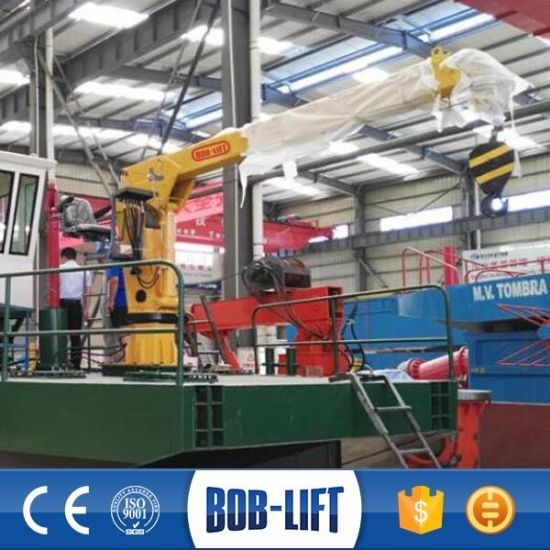 Hydraulic Telescopic Boom Ship Marine Barge Crane for Sale pictures & photos