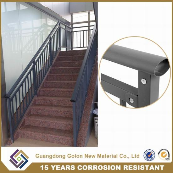 Decoration Wrought Iron Stair Railing Metal Guardrail Design pictures & photos