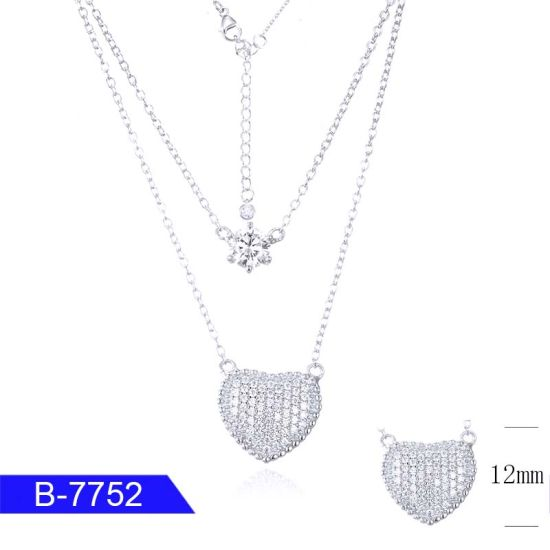 Latest Design Custom Fashion Jewelry 925 Sterling Silver Cubic Zirconia Necklace for Women pictures & photos