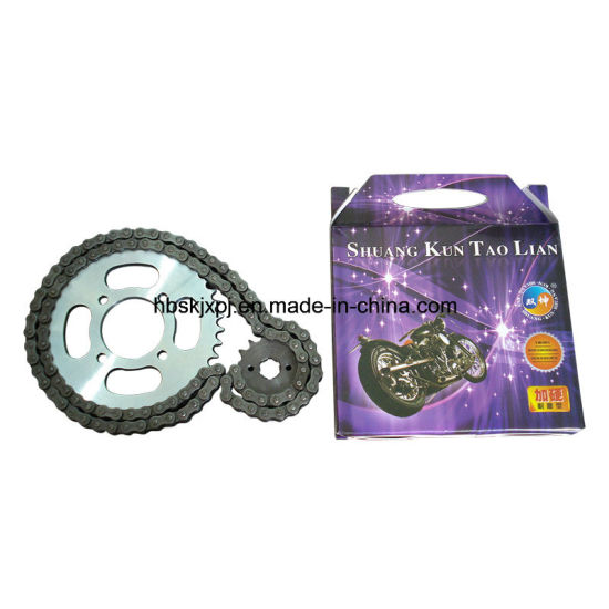 Motorcycle Roller Chain and Sprocket pictures & photos