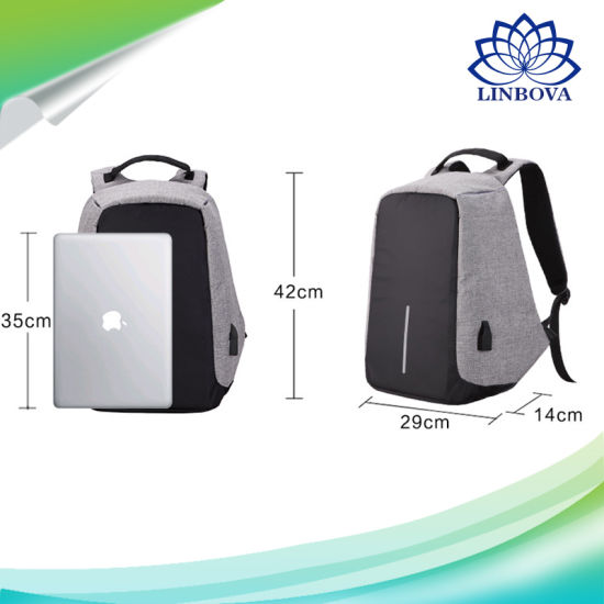 USB Charge Anti Theft Backpack Men Travel Security Waterproof School Bags College Teenage Male 15inch Laptop Backpack pictures & photos