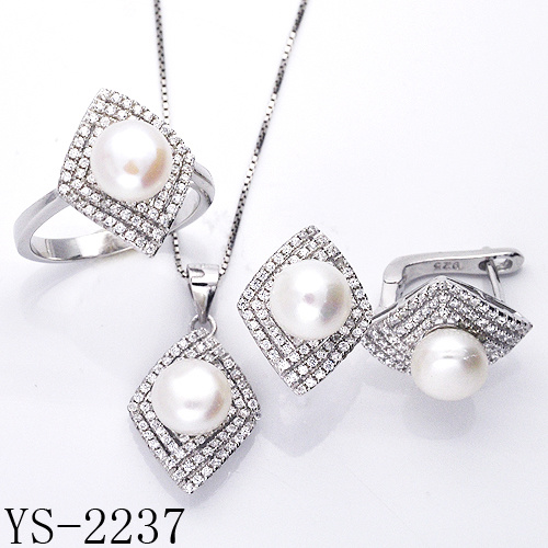 Fashion 925 Sterling Silver Fine Pearl Jewelry Set for Sale pictures & photos