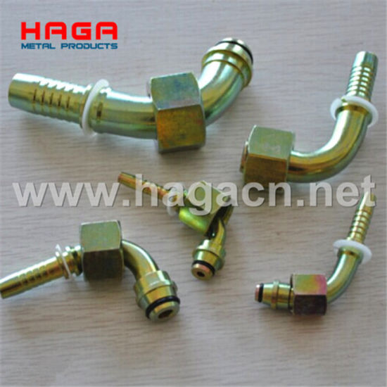 Hydraulic Fittings 45 90 Metric Female Flat Seat (20241&20241-T) pictures & photos