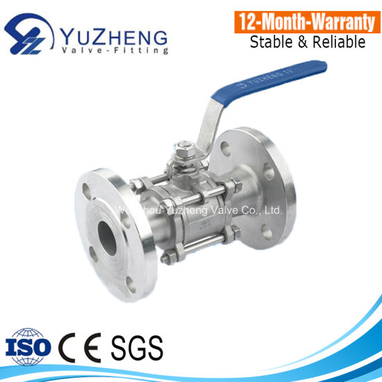 "1/2"" 3PC Flanged Ball Valve pictures & photos"