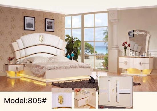 Popular Simple Style Apartment Villa or Hotel Suit Furniture Bedroom Furniture pictures & photos