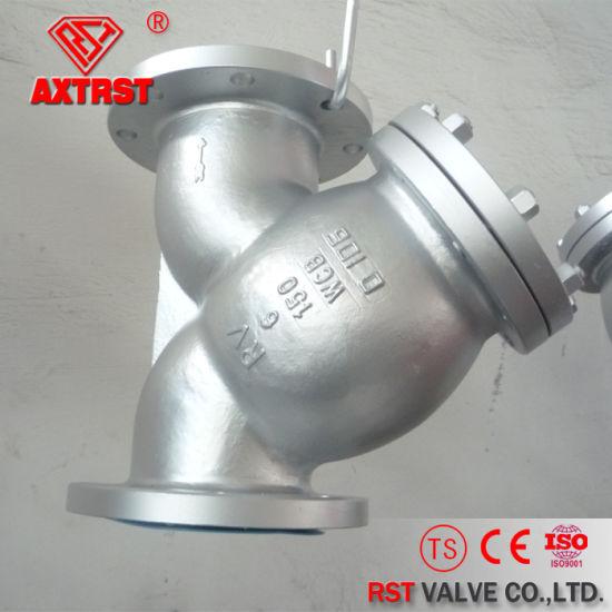 API Carbon Steel 150lb/300lb/600lb Flanged Y Strainer pictures & photos