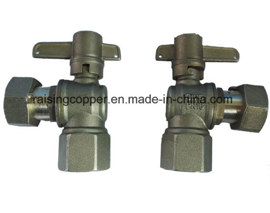 Angle Brass Ball Valve pictures & photos
