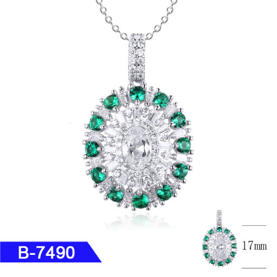 New Model Cheap Fashion Jewelry 925 Sterling Silver Cubic Zirconia Pendant for Sale pictures & photos